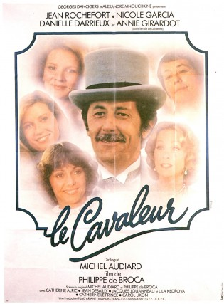 Affiche du film Le cavaleur de Philippe de Broca avec jean Rochefort