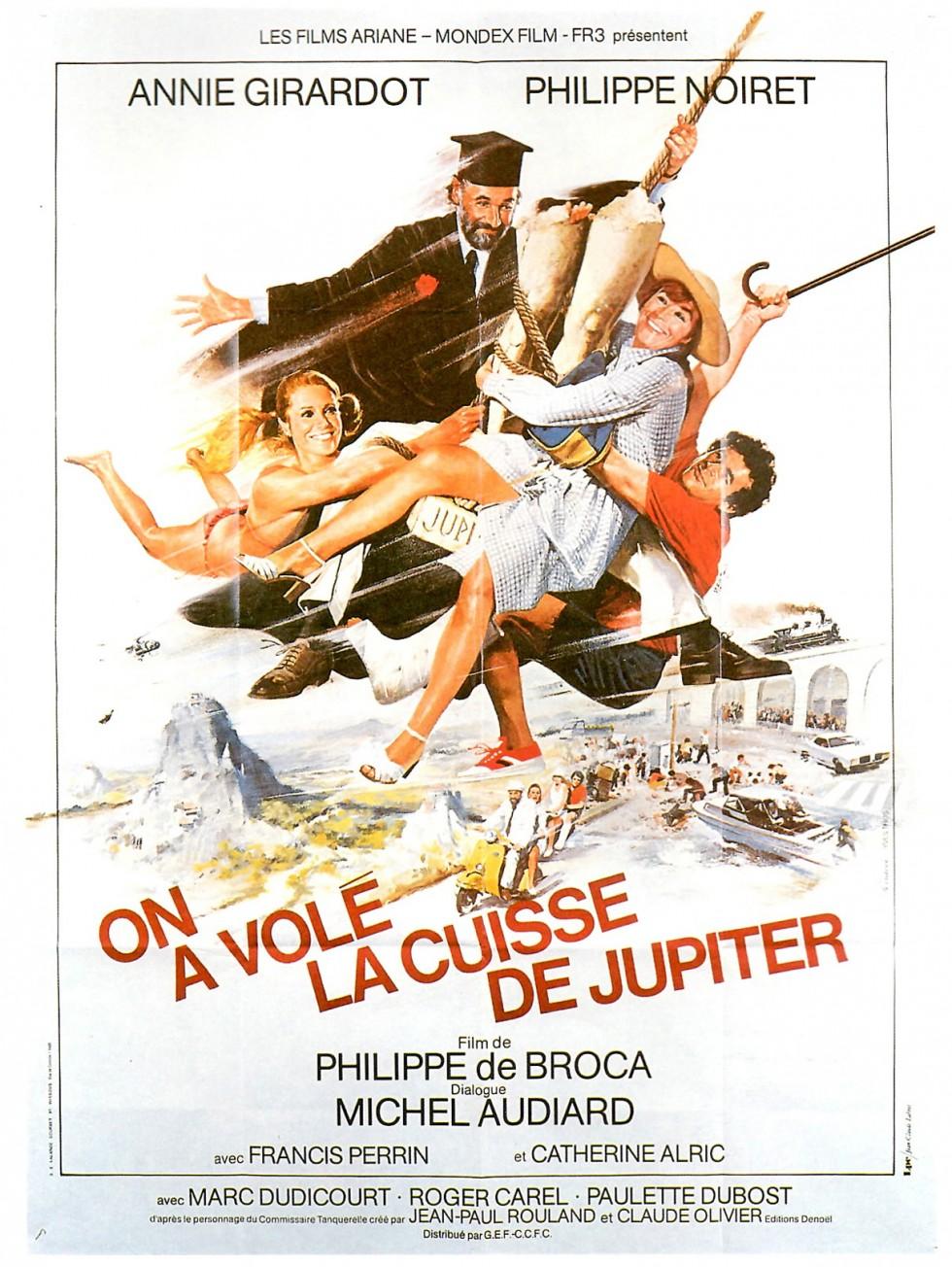 Affiche du film On a volé la cuisse de Jupiter de Philippe de Broca avec Philippe Noiret