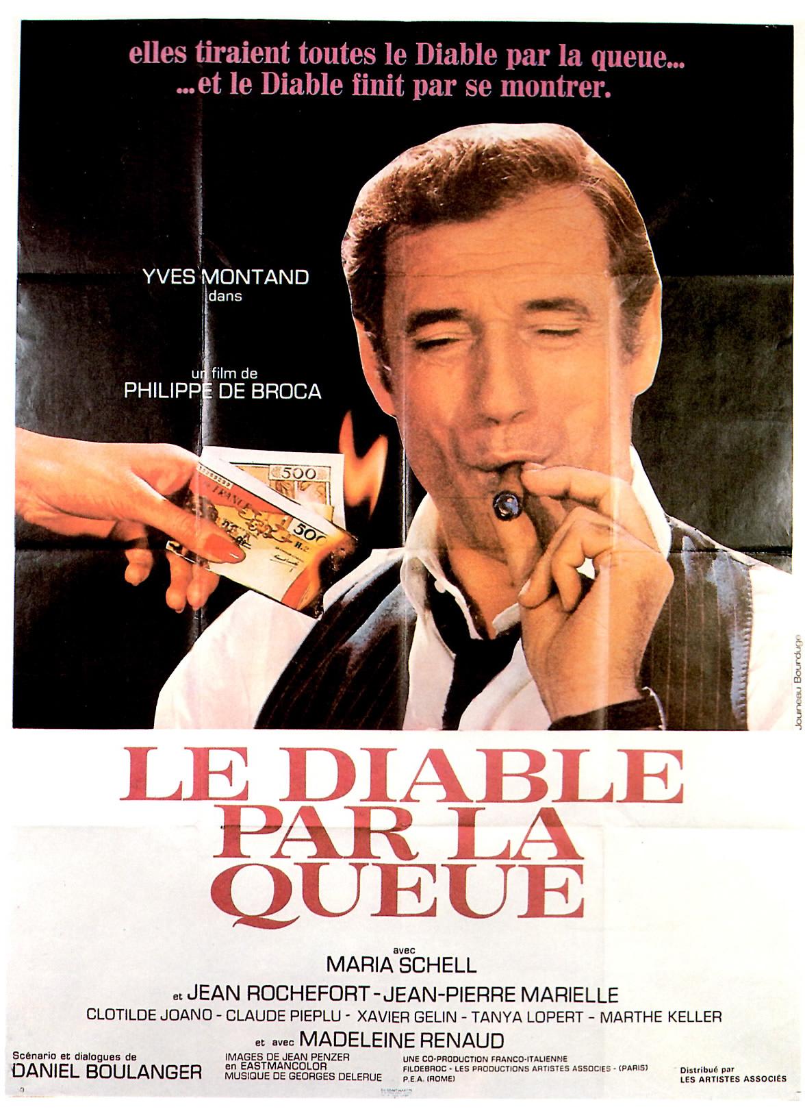 Affiche du film Le Diable par la queue de Philippe de Broca avec Yves Montand
