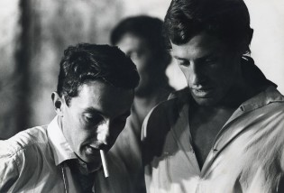 Philippe de Broca et Jean-Paul Belmondo sur le tournage de Cartouche