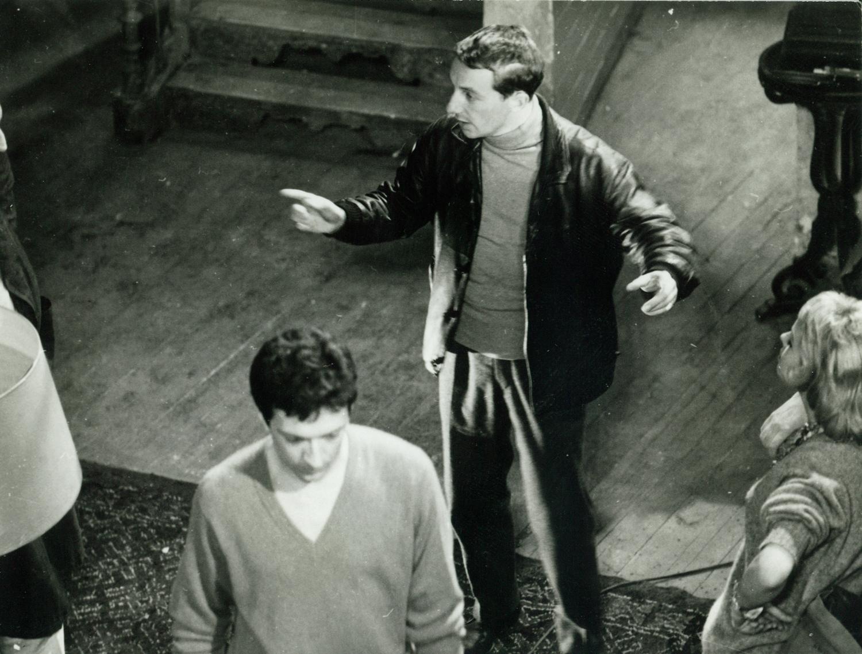 Philippe de Broca et Jean-Pierre Cassel sur le tournage du film Les Jeux de l'amour