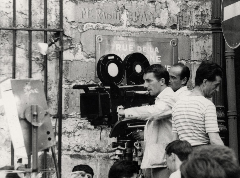 Philippe de Broca sur le tournage du film Les Jeux de l'amour