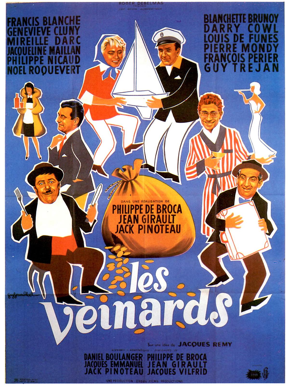Affiche du film Les veinards de Philippe de Broca