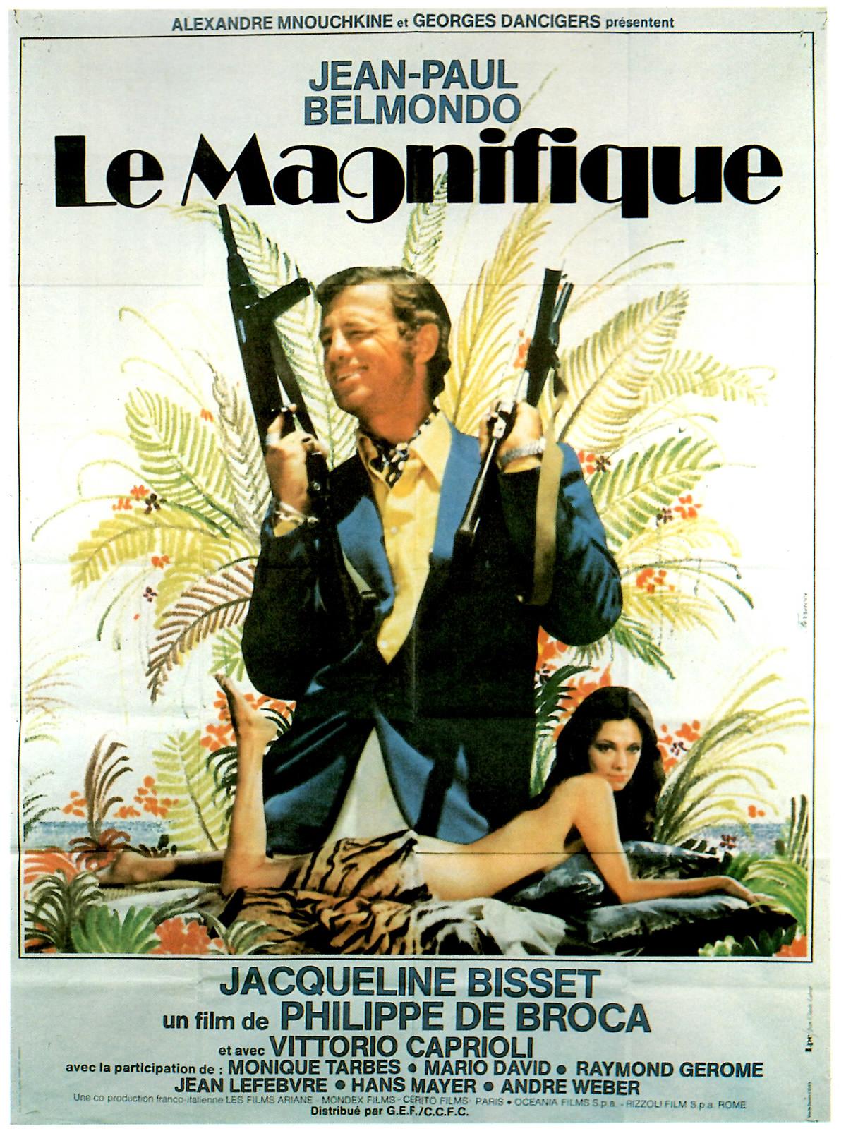 Affiche du film Le Magnifique de Philippe de Broca et avec Jean-Paul Belmondo