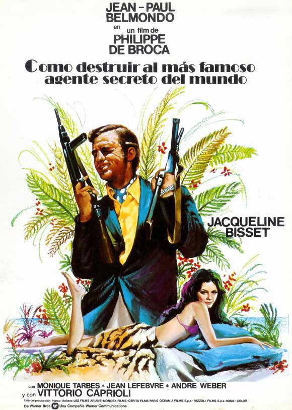 Affiche espagnole du film Le Magnifique de Philippe de Broca et avec Jean-Paul Belmondo
