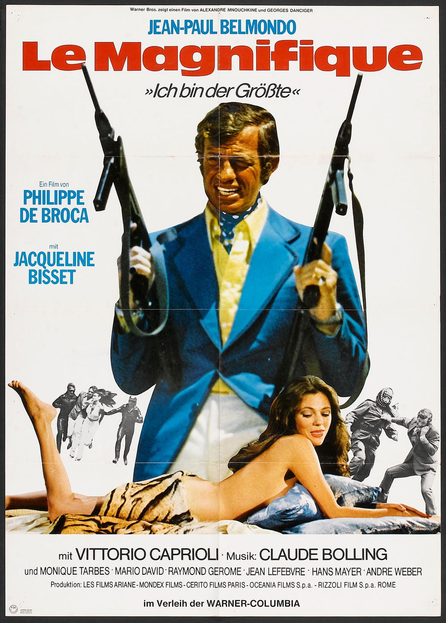 Affiche allemande du film Le Magnifique de Philippe de Broca et avec Jean-Paul Belmondo