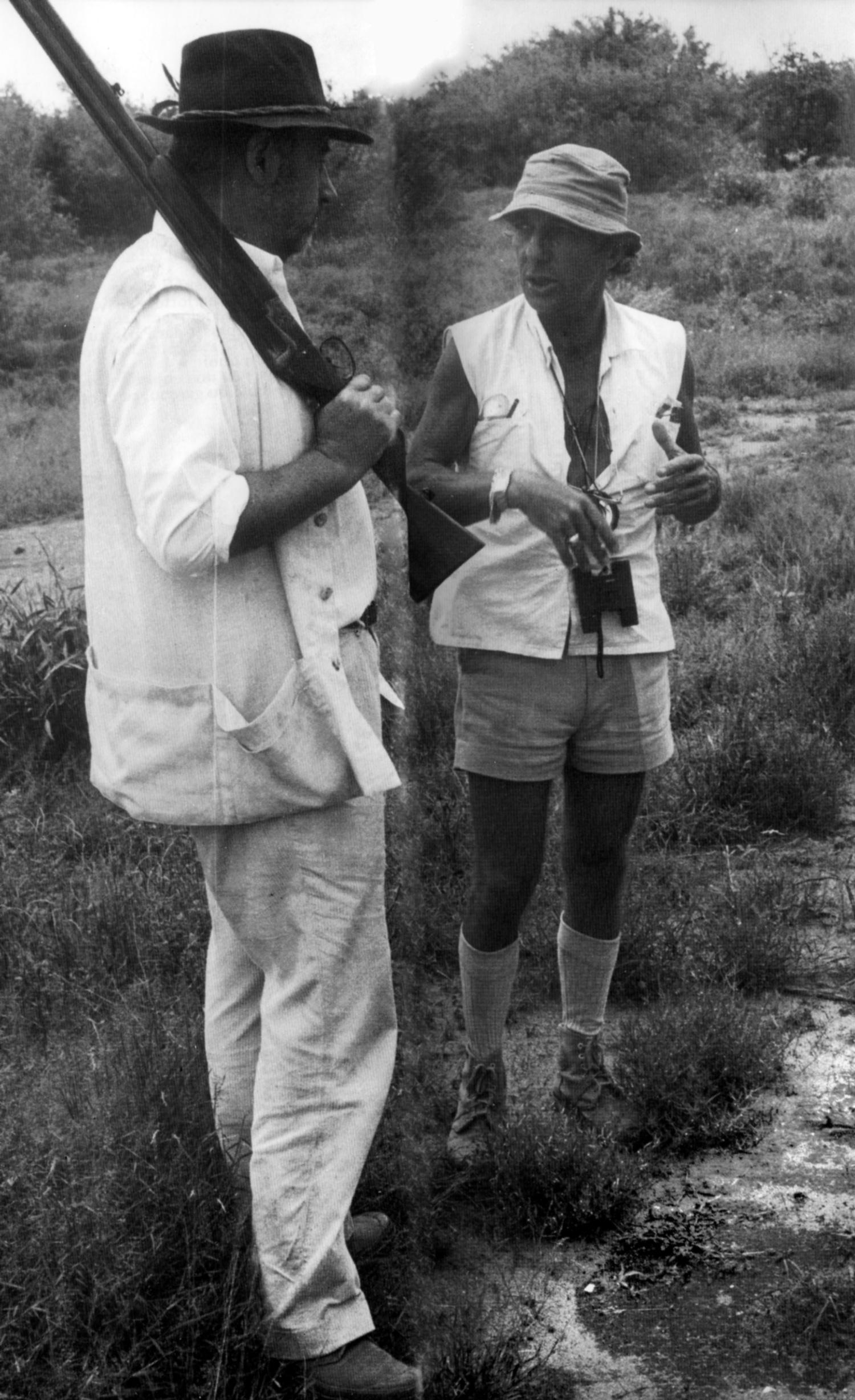 Philippe de Broca et Philippe Noiret sur le tournage de L'Africain