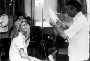 Philippe de Broca et Catherine Deneuve sur le tournage de L'Africain