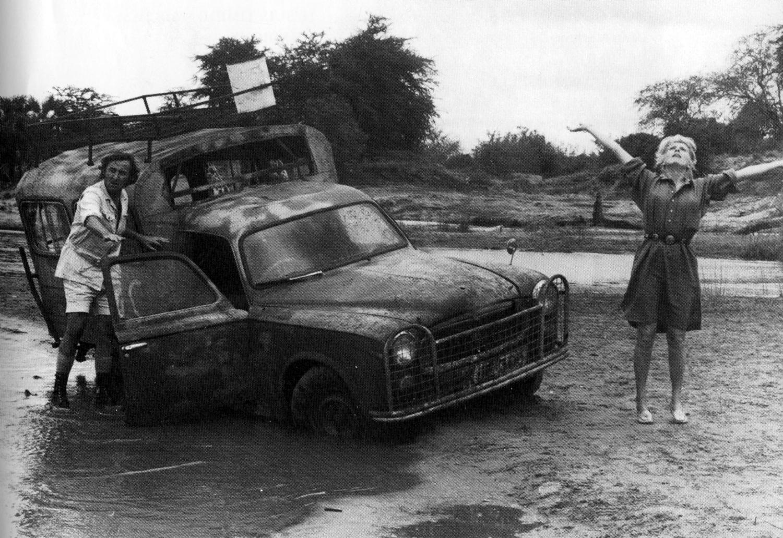 Catherine Deneuve sur le tournage de L'Africain de Philippe de Broca