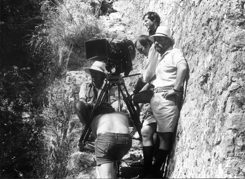 Philippe Noiret sur le tournage de L'Africain de Philippe de Broca