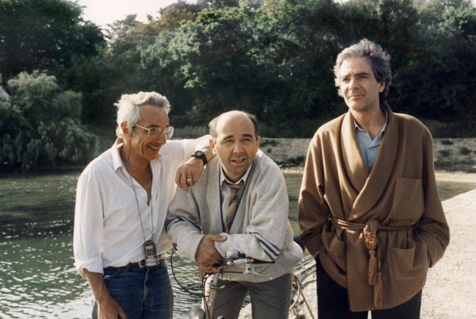 Philippe de Broca, Gérard Jugnot et Pierrre Arditi sur le tournage
