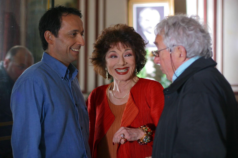 Judith Magre, Eric Metayer et Philippe de Broca sur le tournage du Menteur