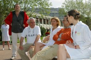 Philippe de Broca et Eric Metayer sur le tournage du Menteur