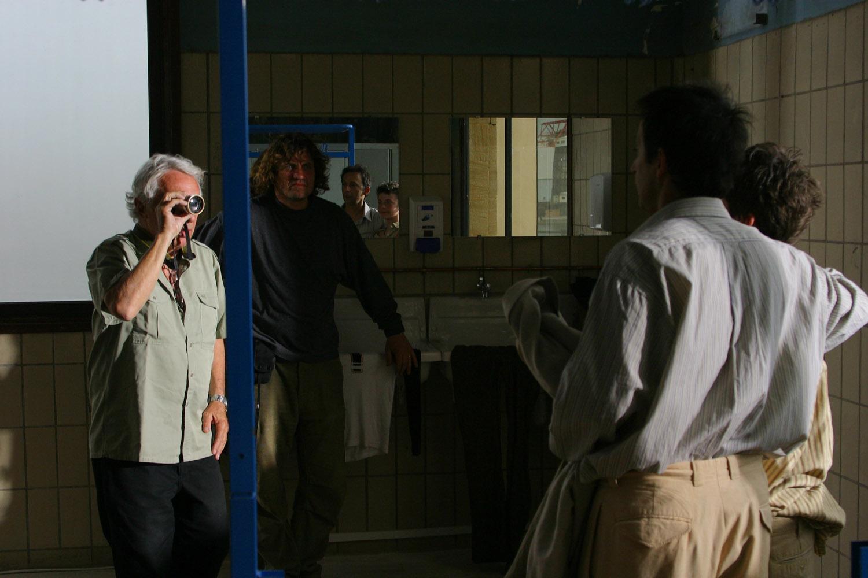 Philippe de Broca sur le tournage
