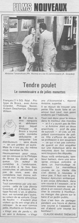 TELERAMA TENDRE POULET DE BROCA N1462 JANV 1978_redimensionner
